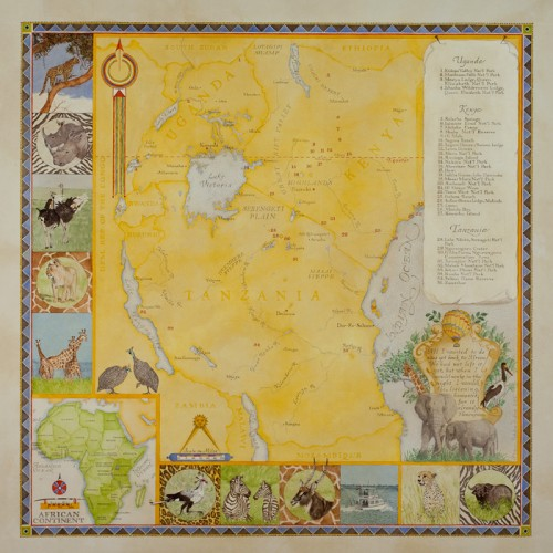 Redstone-Studios-Map-of-Africa-with-animal-insets