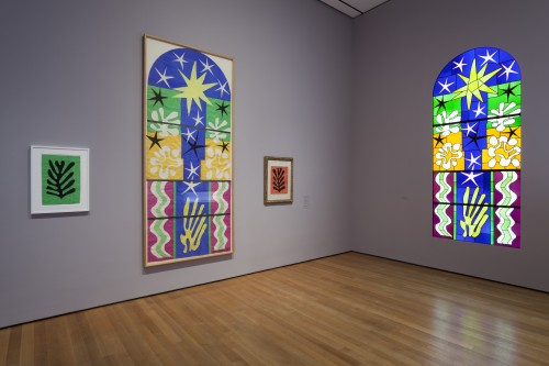 Matisse-Nuit-de-Noel-1952-maquette-and-stained-glass-window