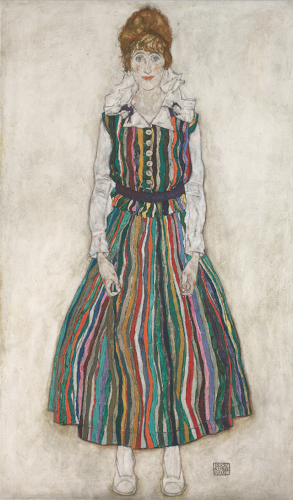 Egon-Schiele-Portrait-of-the-Artists-Wife-1915